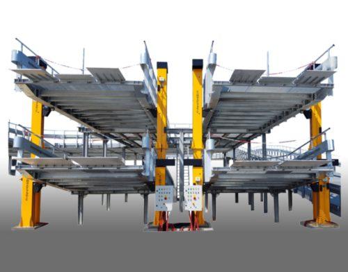 Polohovacie zariadenie na rampy